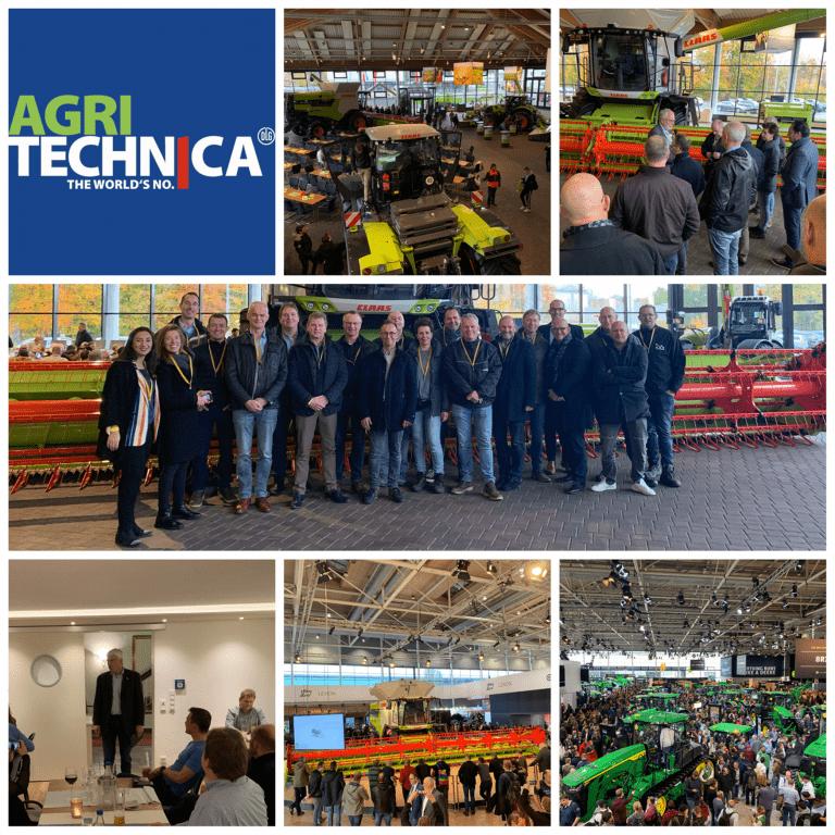 Deelnemers aan de ondernemersreis naar AgriTechnica 2019