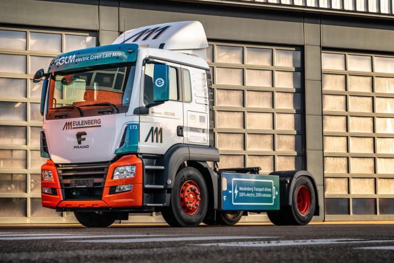 De eerste e-truck van het eGLM project