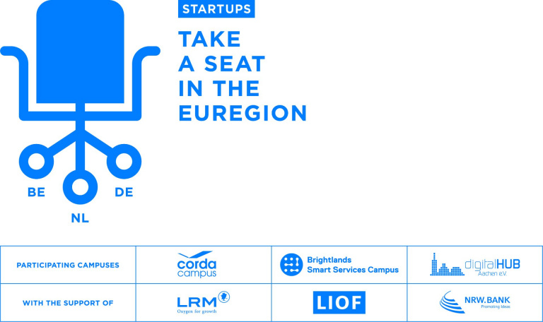 Visual Take a Seat met partner logos